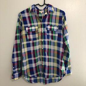 {GAP} Vibrant Plaid Shirt